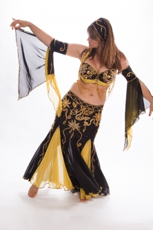 Belly dance cabaret costume - WORN ONCE!