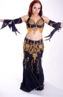 Belly dance cabaret costume - Chess Game Queen