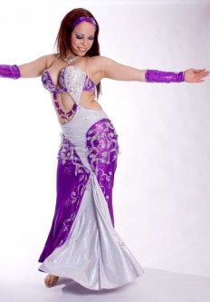 Belly dance cabaret costume - Cocktail Sweetheart