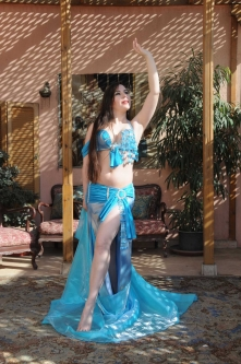 Belly dance cabaret costume - Heart of the Sea