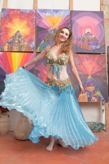 Belly dance cabaret costume - Sea of Glamour!