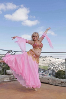 Belly dance cabaret costume - Pretty in Pink