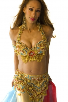 Belly dance cabaret costume - Golden