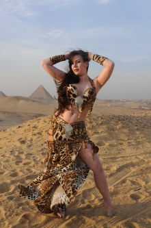 Belly dance cabaret costume - Queen of Cats