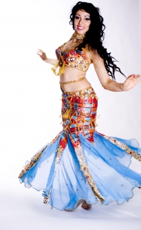 Belly dance cabaret costume - Cleopatra