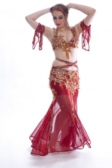 Belly dance cabaret costume - Ruby