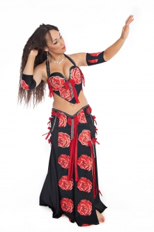 Belly dance cabaret costume - Rosy