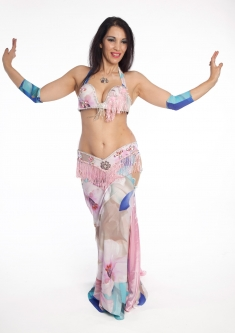 Belly dance cabaret costume - Spring Dancer