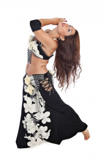Belly dance cabaret costume - Floral Magic