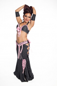 Belly dance cabaret costume - Hello Kitty!