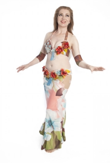 Belly dance cabaret costume - Blossom Desire