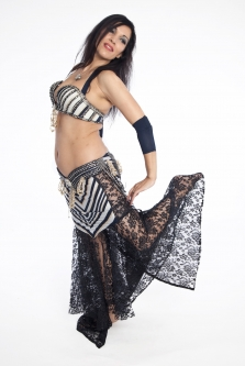 Belly dance cabaret costume - Lady Lace