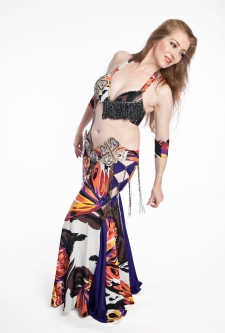 Belly dance cabaret costume - Butterfly Beauty