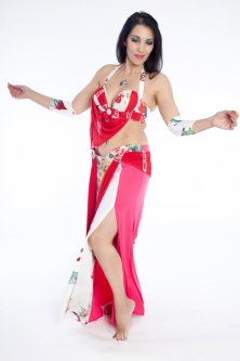 Belly dance cabaret costume - Floral Romance