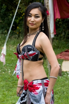 Belly dance cabaret costume - Trouble Maker