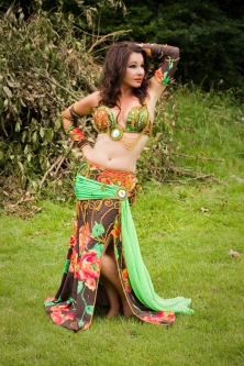 Belly dance cabaret costume - Midsummer Muse
