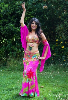 Belly dance cabaret costume - Hot Holiday