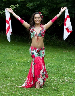 Belly dance cabaret costume - Lady of the Flowers