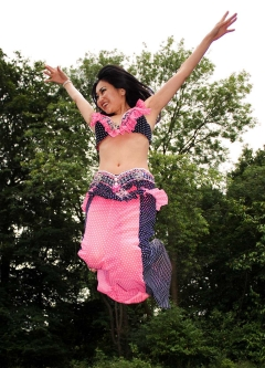 Belly dance cabaret costume - Polka Pops