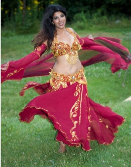 Belly dance cabaret costume - Madame Samia