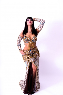 Belly dance cabaret costume - Egyptian Royalty