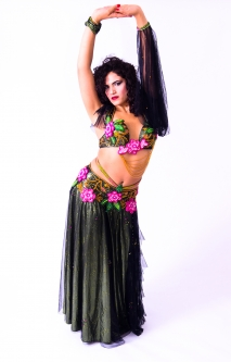 Belly dance cabaret costume - Midsummer night