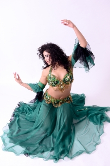 Belly dance cabaret costume - Jade Samia Rose