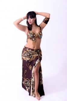 Belly dance cabaret costume - Wild Coco Rose