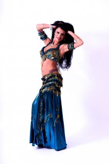 Belly dance cabaret costume - Midnight Mermaid