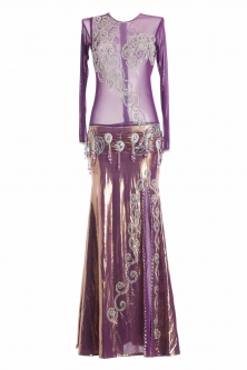 Belly dance cabaret dress - Manhattan Rosé
