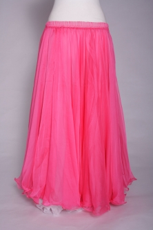 Belly dance chiffon circular skirt