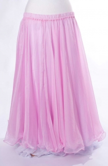 Belly dance chiffon circular skirt - baby pink