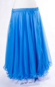 Belly dance chiffon circular skirt - bright blue