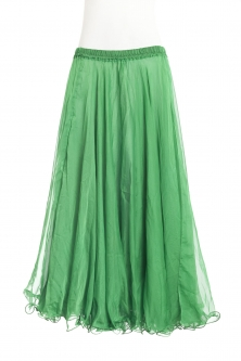 Belly dance chiffon circular skirt - bright green