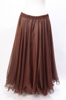 Belly dance chiffon circular skirt - chocolate