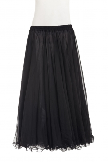 Belly dance chiffon circular skirt - ebony