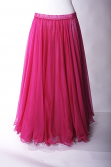 Belly dance chiffon circular skirt - hot pink