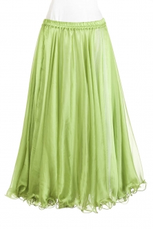 Belly dance chiffon circular skirt - Lime +hint of moss green