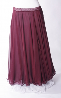 Belly dance chiffon circular skirt - maroon