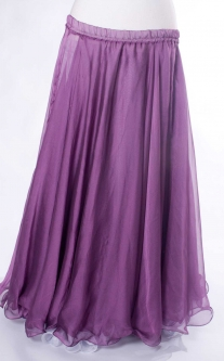 Belly dance chiffon circular skirt - purple