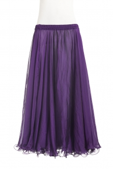 Belly dance chiffon circular skirt - dark purple