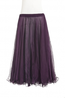 Belly dance chiffon circular skirt - rich plum