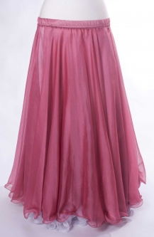 Belly dance chiffon circular skirt - rose pink
