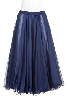 Belly dance chiffon circular skirt - navy blue