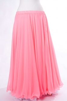 Belly dance chiffon circular skirt - pink peach