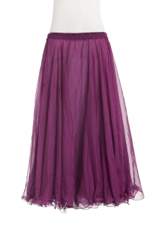 Belly dance chiffon circular skirt - plum
