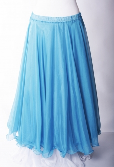 Belly dance chiffon circular skirt - sky blue