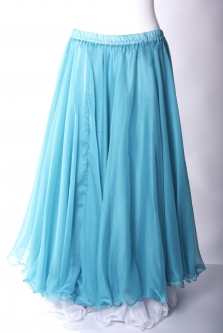 Belly dance chiffon circular skirt - turquoise
