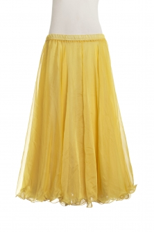 Belly dance chiffon circular skirt - yellow