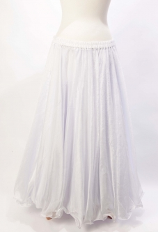 Belly dance chiffon circular skirt - white